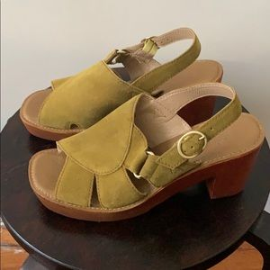 Latigo Chartreuse Clog Sandals